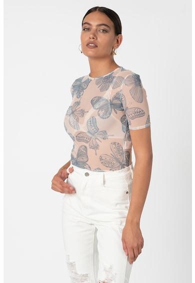Missguided Hálós anyagú póló pillangó mintával női