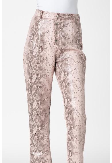 Missguided Pantaloni din piele ecologica cu model de piele de sarpe Femei