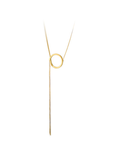 OXETTE Colier placat cu aur si pandantiv Femei