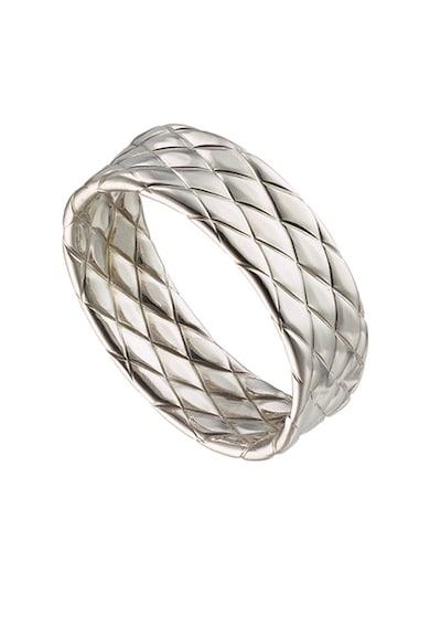 OXETTE 925 sterling ezüst gyűrű texturált hatással női