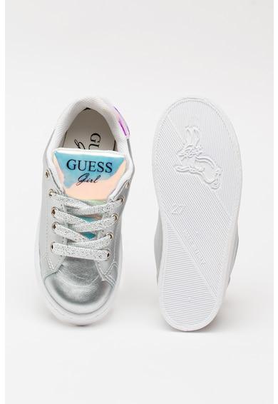 Guess Fémes hatású műbőr sneaker Lány
