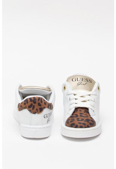 Guess Műbőr sneaker állatmintás szegélyekkel Lány