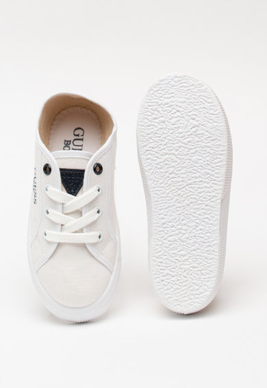 Guess Vászon sneaker kontrasztos logós részletekkel Lány