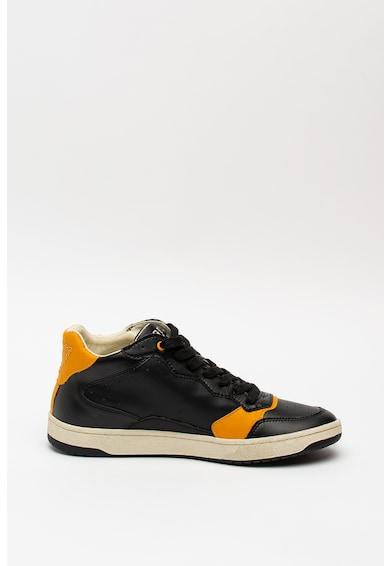 Guess Pantofi sport mid-high de piele si piele ecologica Barbati