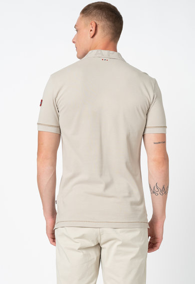 Napapijri Tricou polo cu detaliu logo Elice Barbati