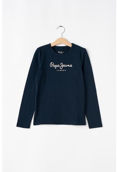 Pepe Jeans London Bluza cu logo stralucitor Fete