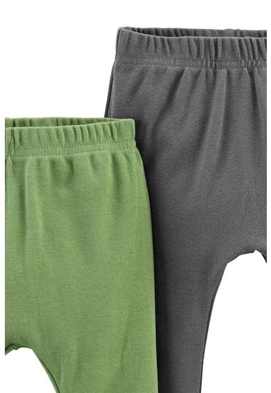Carter's Set de pantaloni de bumbac organic - 2 perechi, Gri inchis/Verde Baieti