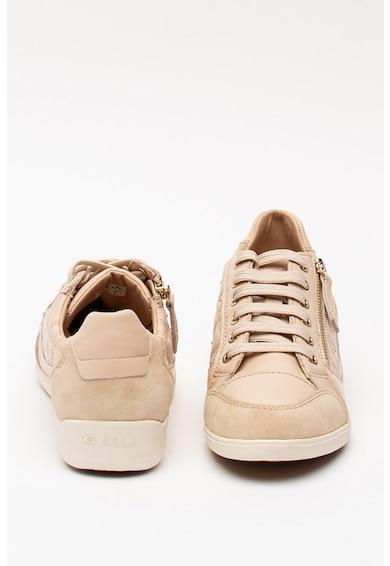 Geox Myria bőr és nyersbőr sneaker dísztűzéses mintával női
