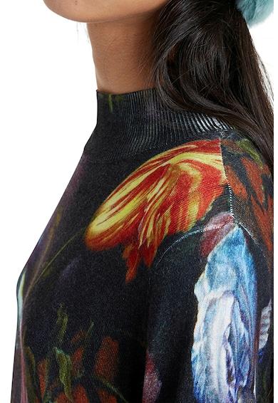 DESIGUAL Tulipánmintás pulóver női