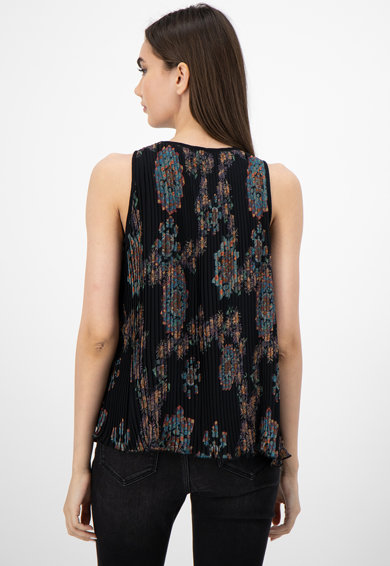 DESIGUAL Bluza cu model floral si model plisat Femei