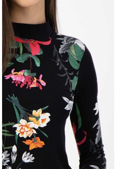 DESIGUAL Pulover tricotat fin, cu model floral Femei