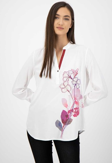 DESIGUAL Bluza cu decolteu in V si aplicatii de paiete Femei