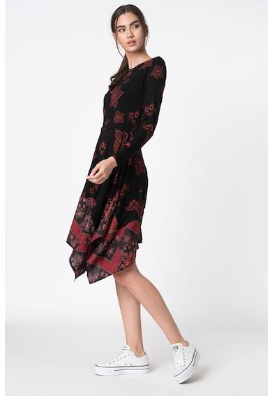 DESIGUAL Rochie cu maneci lungi si terminatie asimetrica Femei
