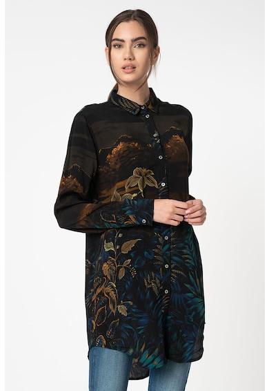 DESIGUAL Camasa lunga cu imprimeu grafic Femei