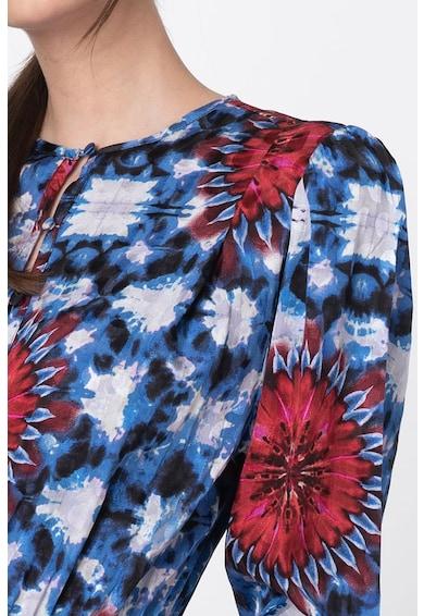DESIGUAL Rochie din viscoza cu imprimeu si terminatie asimetrica Femei