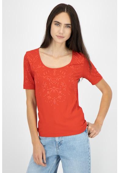 DESIGUAL Bluza cu maneci scurte si decolteu rotund Femei