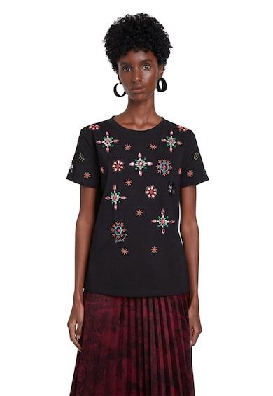 DESIGUAL Tricou cu detalii brodate Femei