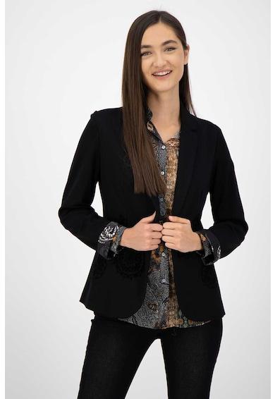 DESIGUAL Sacou tailored fit cu aplicatii catifelate Femei