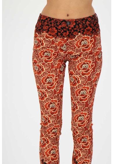 DESIGUAL Pantaloni skinny capri cu model floral Femei