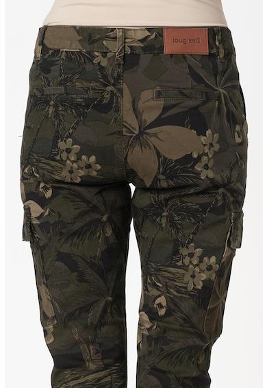 DESIGUAL Pantaloni cargo din amestec de modal Femei