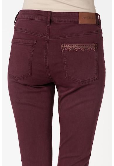 DESIGUAL Pantaloni din amestec de modal cu broderie Femei