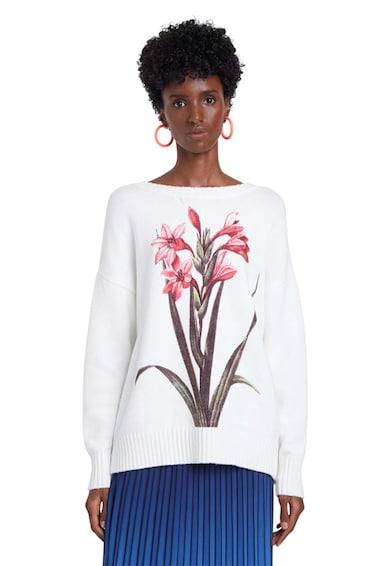 DESIGUAL Pulover tricotat fin cu imprimeu floral Femei