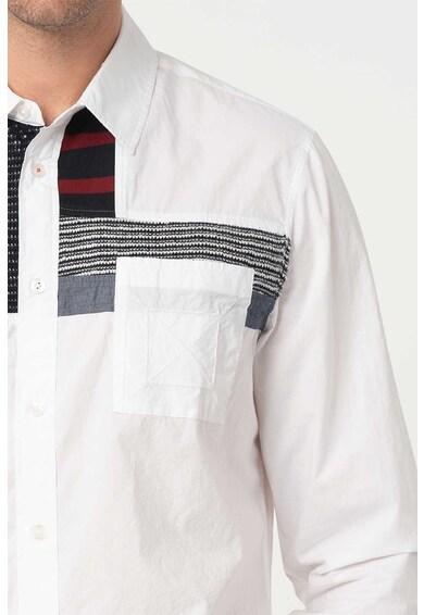 DESIGUAL Camasa cu aplicatii contrastante Leon Barbati