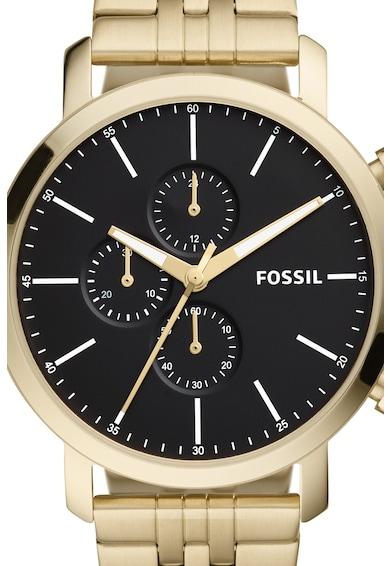 Fossil Ceas cronograf de otel inoxidabil Barbati
