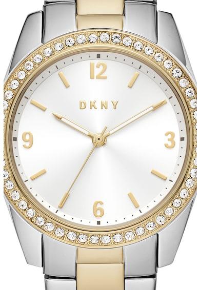 DKNY Ceas analog cu coroana decorata cu cristale Femei