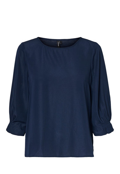 Vero Moda Bluza vaporoasa cu maneci 3/4 Femei