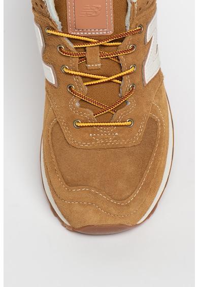 New Balance 574 Classic sneaker nyersbőr részletekkel férfi