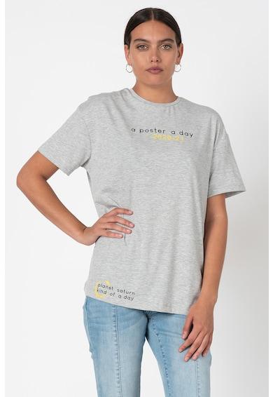 Trendyol Tricou de bumbac cu decolteu la baza gatului C Femei