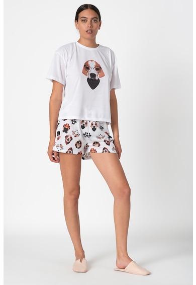 Trendyol Pijama scurta cu imprimeu grafic Femei
