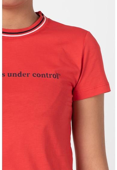 Trendyol Tricou de bumbac cu decolteu la baza gatului A Femei