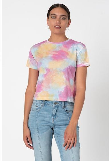 Trendyol Tricou de bumbac cu aspect tie-dye Femei