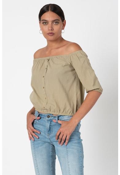 Trendyol Bluza cu decolteu pe umeri si nasturi decorativi Femei