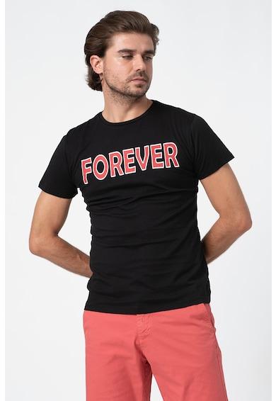 Trendyol Tricou cu decolteu la baza gatului si imprimeu text Barbati