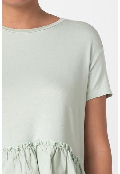 Trendyol Bluza cu maneci scurte si terminatie evazata Femei
