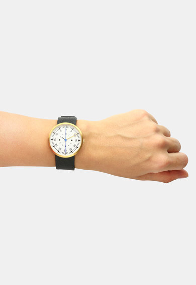 Optimef Ceas unisex analog cu o curea de piele Fărăzece Femei