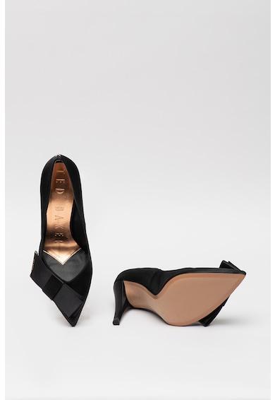 Ted Baker Pantofi cu varf ascutit si aspect satinat Zafia Femei