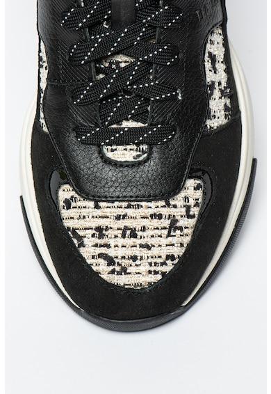 Ted Baker Narra nyersbőr és bőr sneaker textil részletekkel női