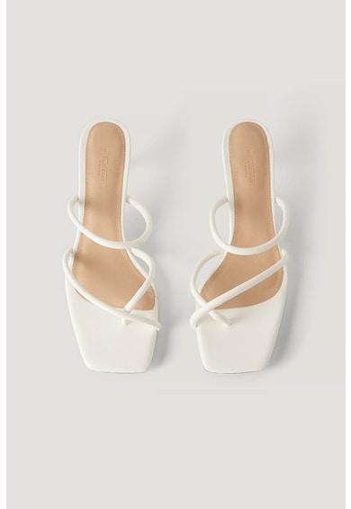 NA-KD Papuci din piele ecologica, cu toc Femei