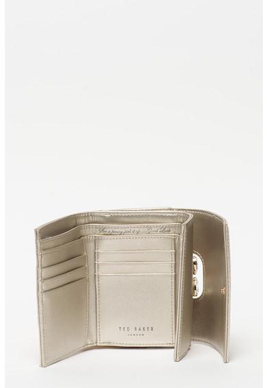 Ted Baker Кожено портмоне Alyesha с метален ефект Жени