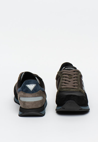 Emporio Armani Nyersbőr sneaker hálós anyagbetétekkel férfi