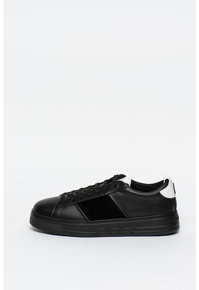 Emporio Armani Bőr és textil sneaker férfi