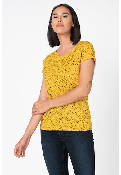 EDC by Esprit Kerek nyakú póló absztrakt mintával női