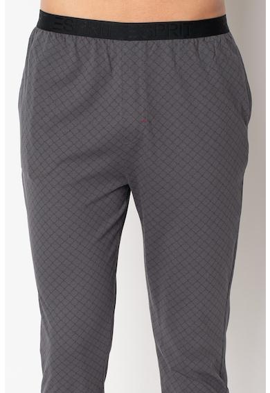 ESPRIT Bodywear Tricou de bumbac organic si pantaloni de pijama cu imprimeu Barbati