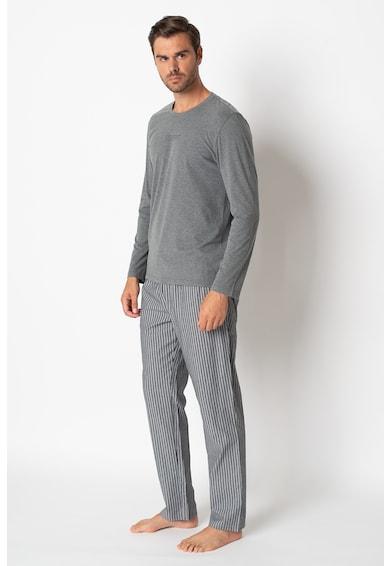 ESPRIT Bodywear Pantaloni in dungi de pijama si bluza de bumbac organic Barbati