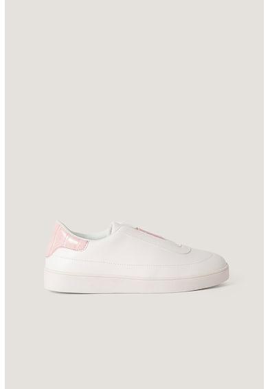 NA-KD Pantofi sport slip-on din piele ecologica cu garnituri contrastante Femei