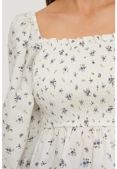 NA-KD Blúz szögletes nyakrésszel és húzott részletekkel női